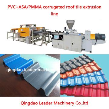 PVC + Asa Welldachziegel-Glasziegel-Extrusionsmaschine