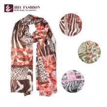 HEC Popular In The USA Promotional Checked Floral Scarf With Polyester