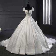 Satin Sicke Spitze Ball China Hochzeitskleid