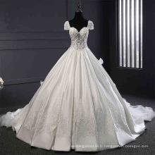 Robe de mariée en satin et perles de dentelle