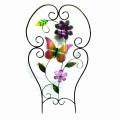 Venta al por mayor artesanía cerca de metal con la decoración del jardín de flores de tela