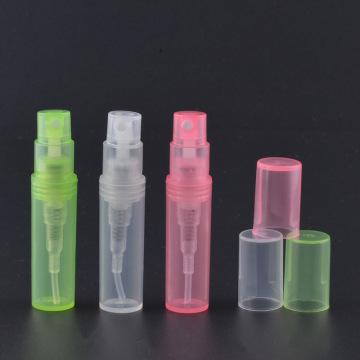 Garrafa de perfume de garrafa de plástico pequena de 2 ml com pulverizador de névoa