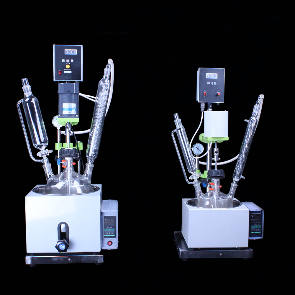 lab glass reactor kettle