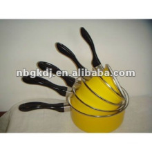 saucepan with color enamel coating