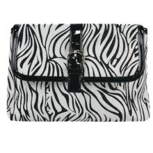 Waterproof Zebra PU Evening Bag for Make up