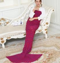 बैंगनी लाल वयस्क मत्स्यांगना पूंछ कंबल मछली पूंछ कंबल