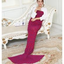 New Fashionable Handmade Crochet Mermaid Tail Blanket
