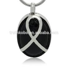 Diseño de moda de acero inoxidable colgante collar de cenizas joyas conmemorativas