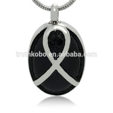 Fashion design stainless steel pendant ashes necklace memorial jewelry