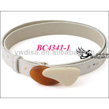 White Fashion PU Belts For Women With Size 2.5*83cm BC4341-1