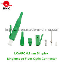 LC APC 0.9mm Simplex Singlemode Fiber Optic Connector