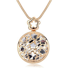 Wholesale Gold Flower Pendant Necklaces