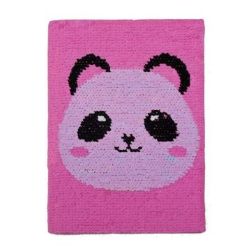 GLITTERY FLIP PANDA SEQUIN NOTEBOOK-0