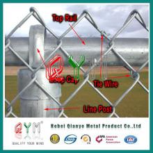 Qym-Cadeia Link Fence com Round Post