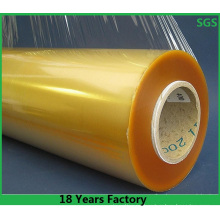Fabricación de película elástica de PVC