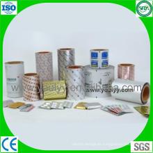 Papel de aluminio para paquete de blíster