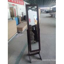 full length Black standing mirror jewelry storage with jewelry storage