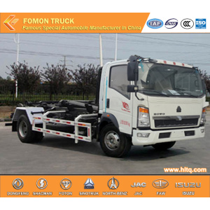 Euro3 SINOTRUK Pull Arm Self-discharging Refuse Truck