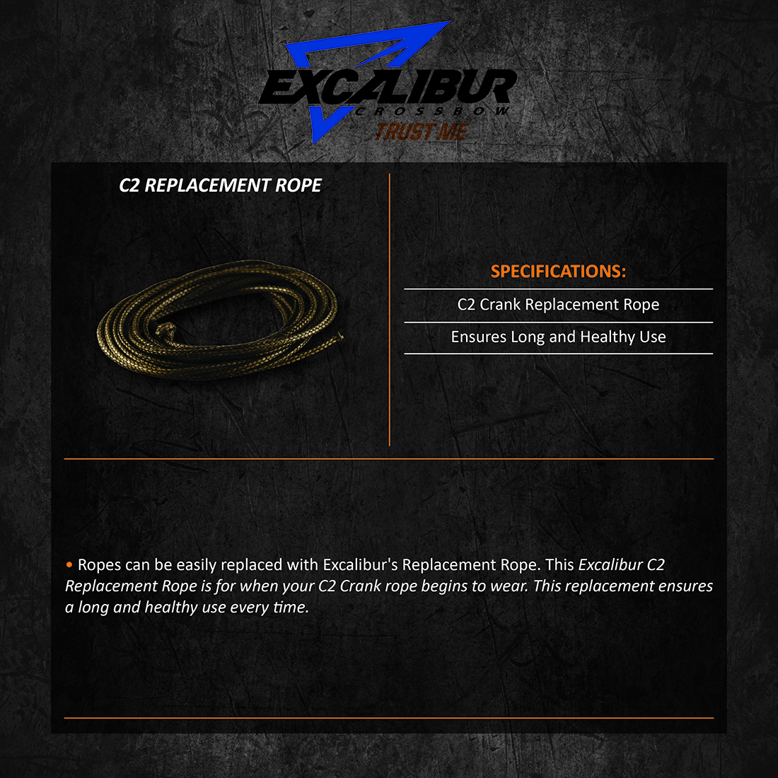 Excalibur_C2_Replacement_Rope_Product_Description