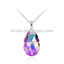 Кулон оптового большого кристаллического диаманта teardrop