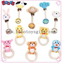 Venta al por mayor Squeaky algodón cuerda animal de peluche animal de juguete de animales de compañía para gato gato Bosw1065 / 15cm