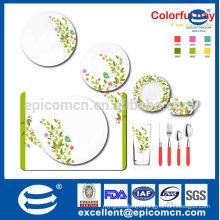 hot sale floral design new bone china dinner set with tea set