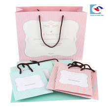 custom mini paper packing colorful bag for best wishes