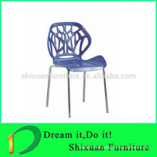 hot sale leisure chair with chormed metal legs