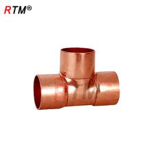 J17 4 7 1 raccords en cuivre d'écrou raccords de tuyauterie de coude de 3 manières