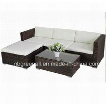 Mobília ao ar livre do jardim do sofá do vime / do vime