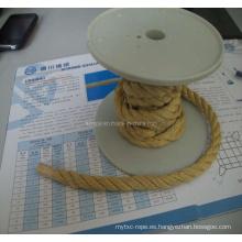 3 Strand Kevlar (fibra de aramida) cuerda
