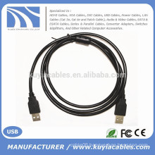 USB 2.0 Type A Male to Type A Male Cable, Black