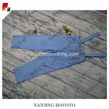 Blue strap jeans with white dots design