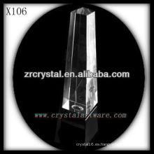 Premio de cristal en blanco k9 X106