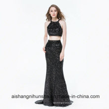 Long Formal Evening Dresses Halter Mermaid 2 Piece