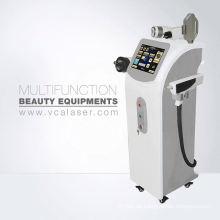 Portable IPL + RF + E-Licht + nd-yag-Laser-Haarentfernung & Tattoo-Entfernung-Maschine