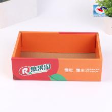 Caixa de embalagem de papelão ondulado de frutas de tamanho personalizado feito à mão