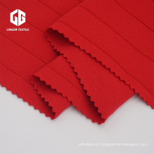 Algodón Poliéster Jacquard Interlock Fabric CVC 60/40