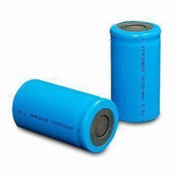LiFePO4 Rechargeable Batteries,3,000mAh with 3.2V Normal Voltage for UPS and More