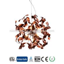 factory lighting modern oval aluminum chandelier crystal chandelier light