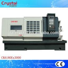 grand prix et machine de tour de commande numérique par ordinateur de grand alésage et spécification CK6180E