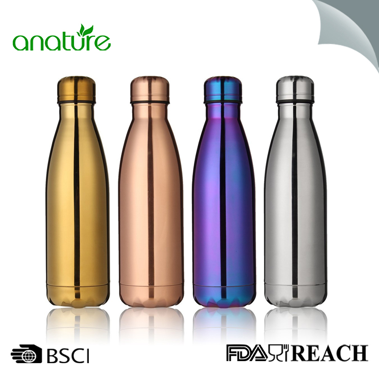 Vacuum Plate Double Wall Steel Water Bottle