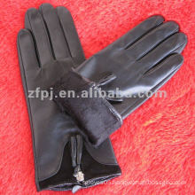 women quality brown sheepskin genuine leather glove