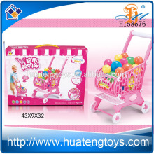 New Product Kids Plastic Supermarket Shopping Cart Toy Shopping Trolley Toy with Ball H158676