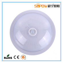 Top Quality 5W 8W LED Luz de teto com sensor de movimento de emergência