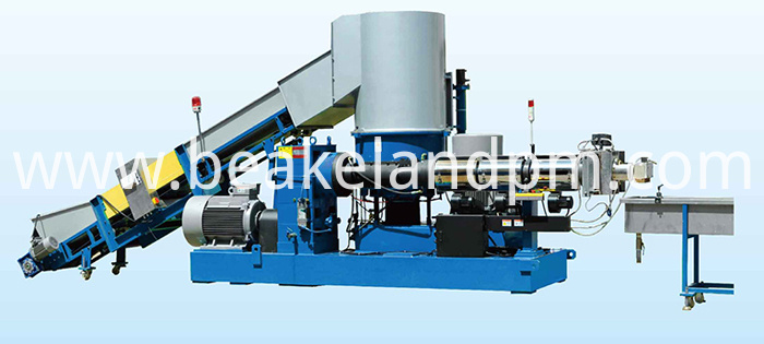 Stretch film pelletizing machine line