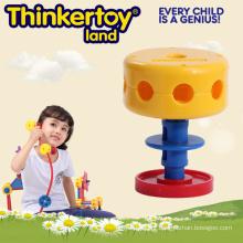 Brinquedo do bloco de edifício da extremidade aberta para miúdos na forma da cadeira
