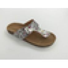 Neuer Art-Dame-Hefterzufuhr-Luft-Schlag-PVC-Schuh-flache Frauen-Schuh-Sandelholz,