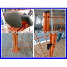 Curvy polímero soldado valla de malla de alambre