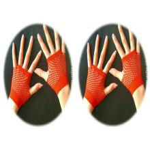 Luvas de dedo vermelho aberto luvas inteligentes luvas sem dedos mulheres